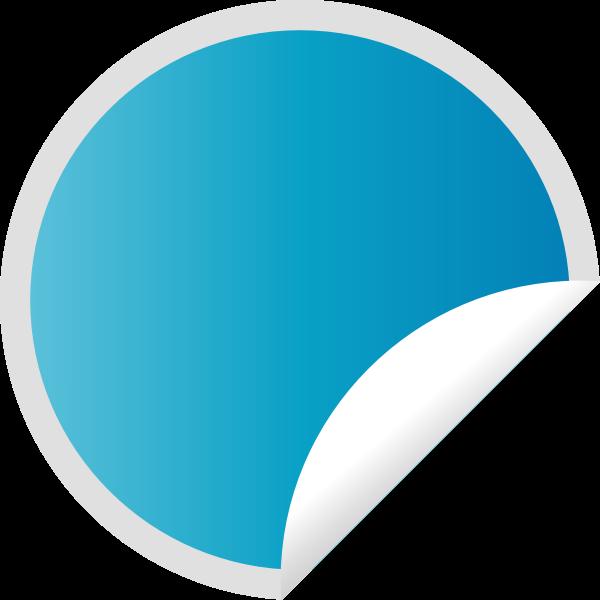 Peeling Blue Sticker