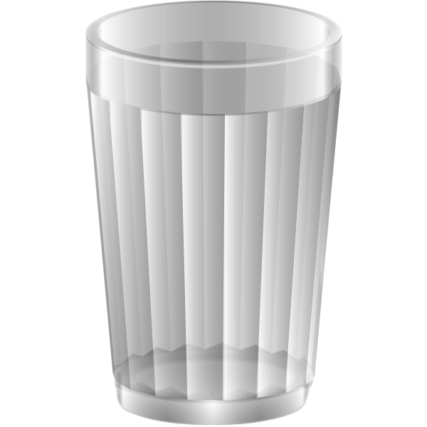 Empty water glass vector image
