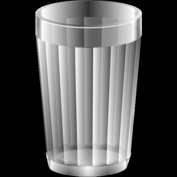Empty water glass vector image
