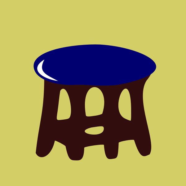 stool blue