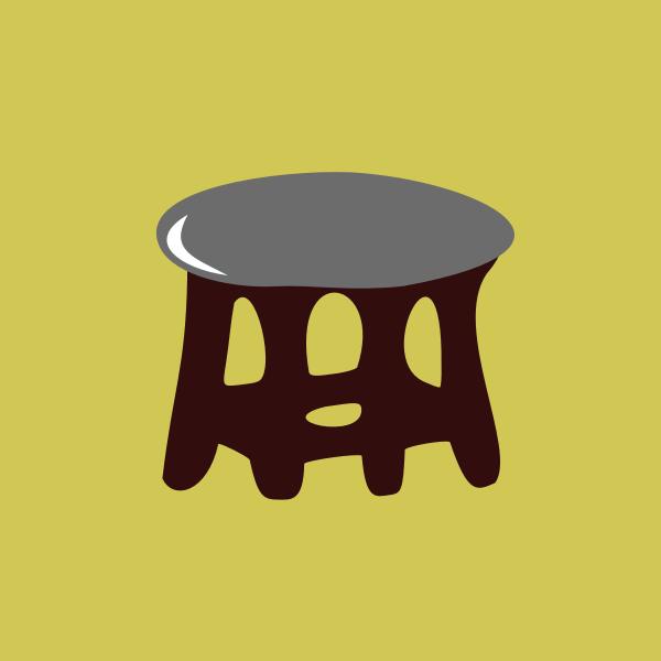 stool gray