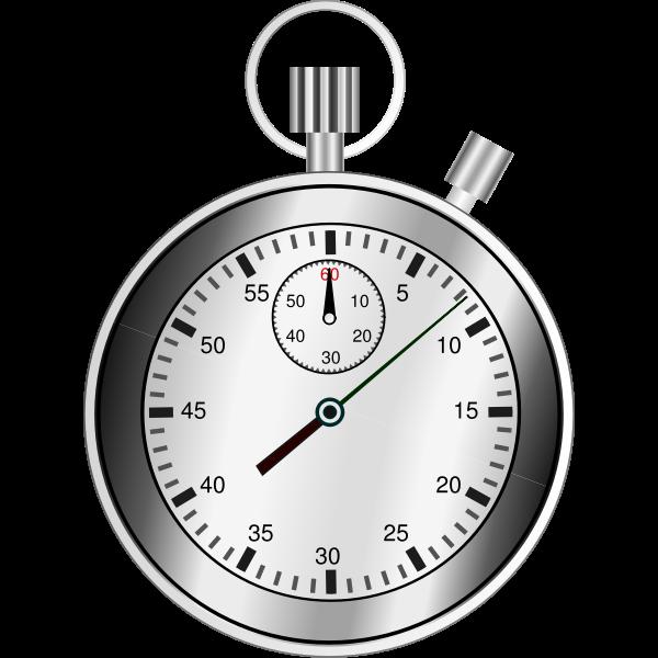 Grayscale chronograph vector image