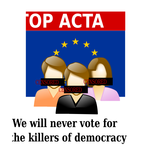Stop ACTA vector illustration