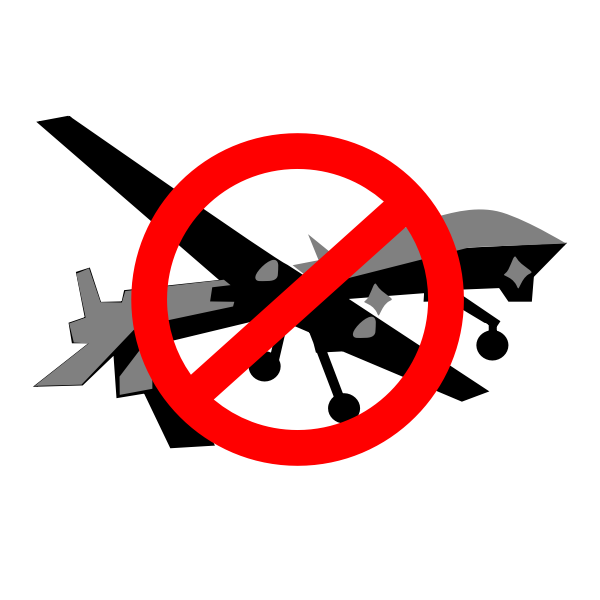 Stop Drone Attacks Vector Graphics