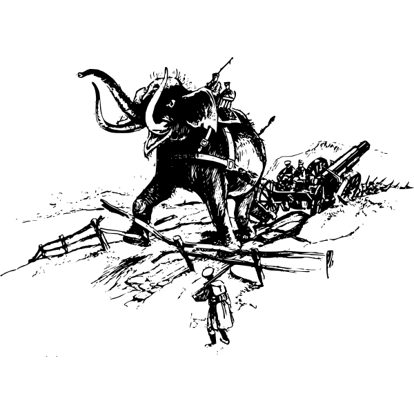 Elephant in battle vector image