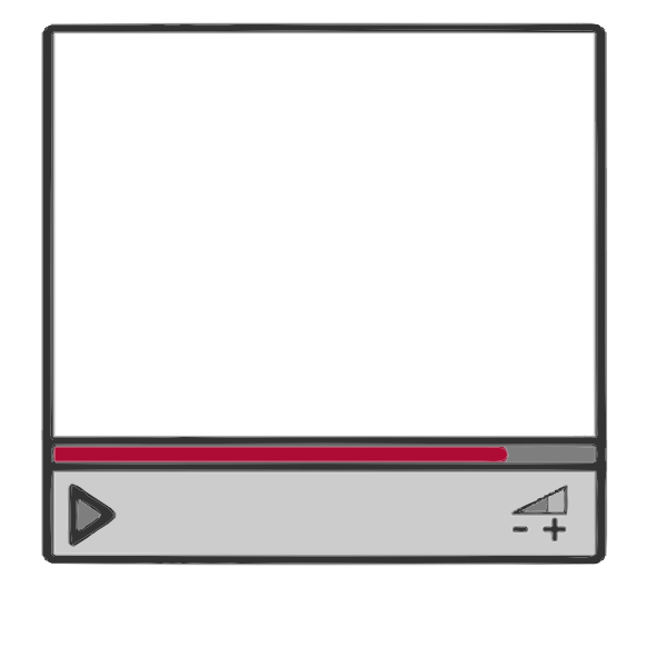 Streaming video border frame vector image