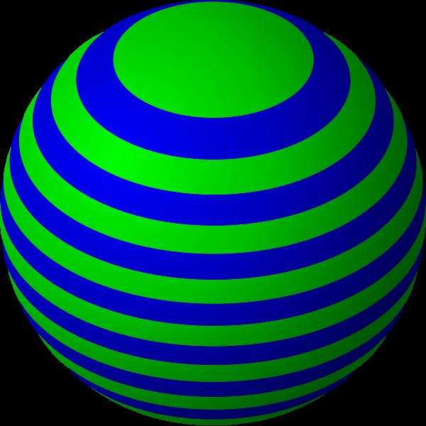 Striped ball