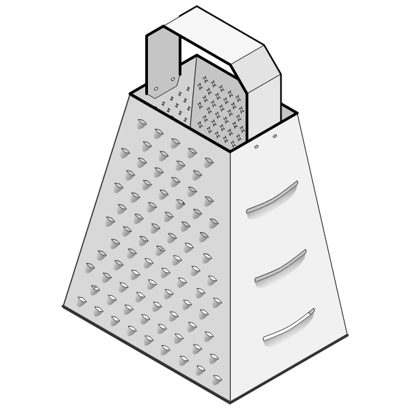 Vector drawing of cheese grater
