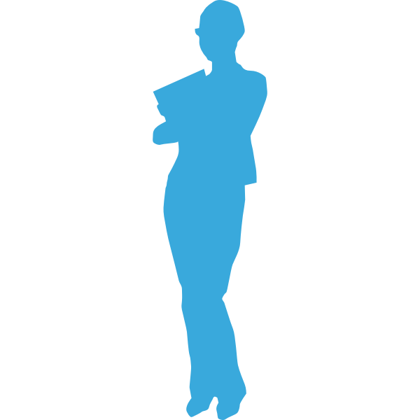 Student girl vector graphics