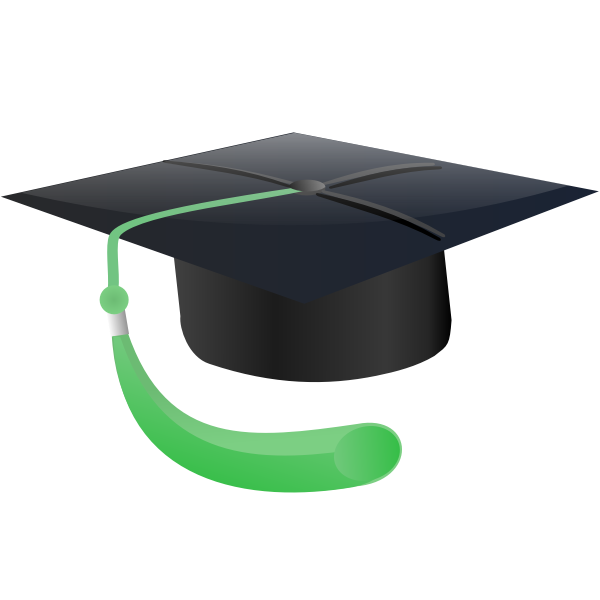 Graduate student hat vector image