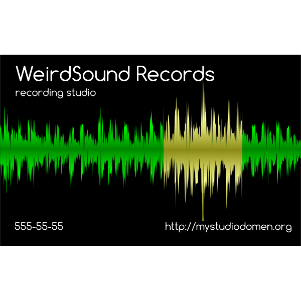 Black businesscard for recording studio
