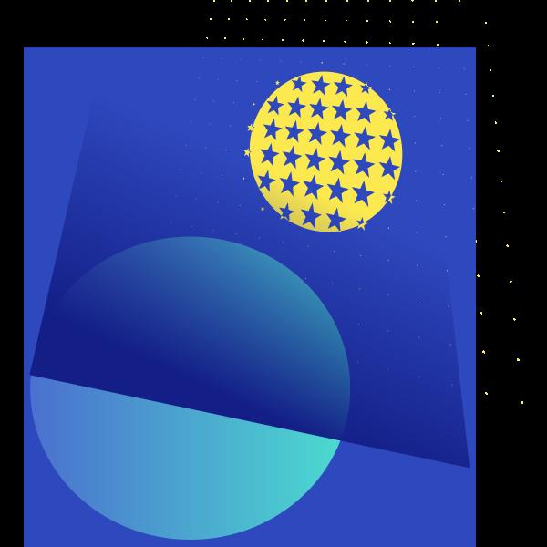Moon in the night