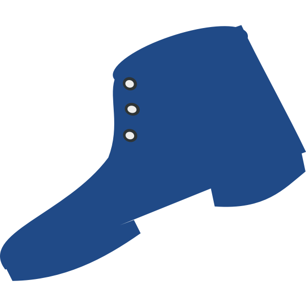 Blue silhouette of a boot vector image