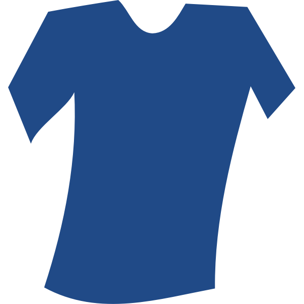 Vector image of blank blue tilted t-shirt