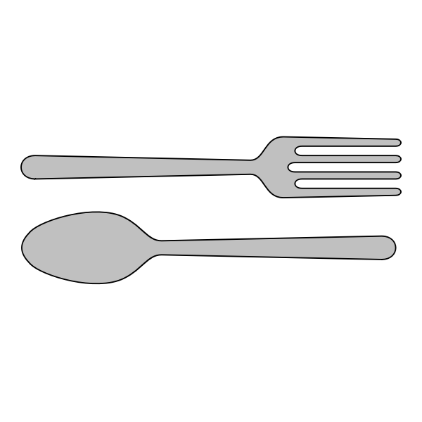 Vector clip art of fork and spoon