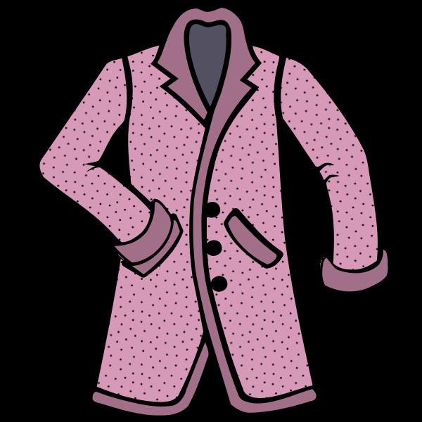 Stylish pink coat
