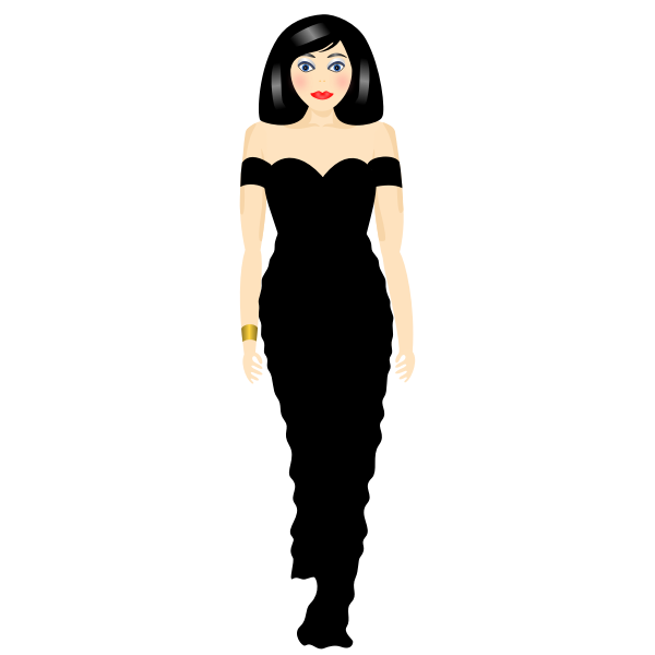 Stylish woman vector clip art