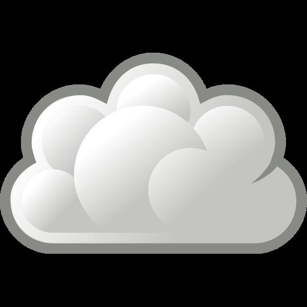 Grey cloud icon vector image