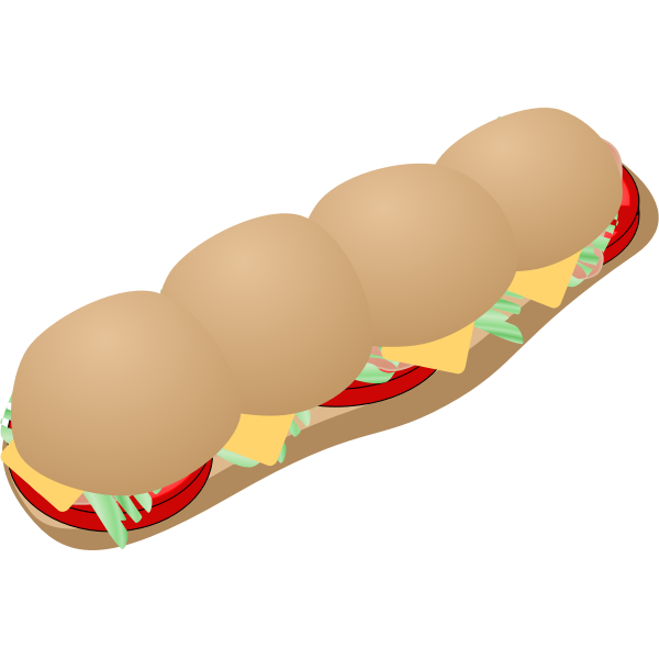 Vector clip art of Subway sandwich