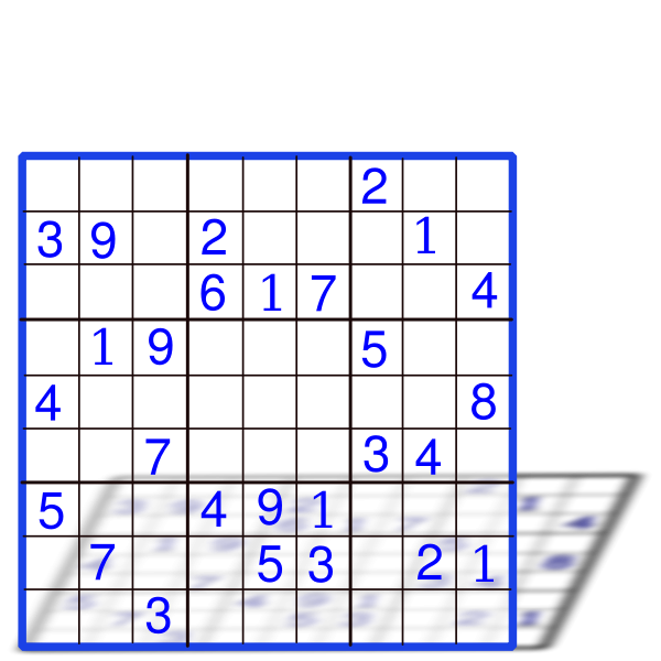 Sudoku with numbers vector graphics