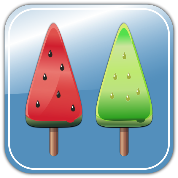 Melon ice candies vector image