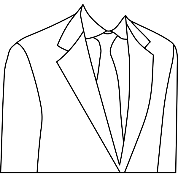White suit jacket vector drawing