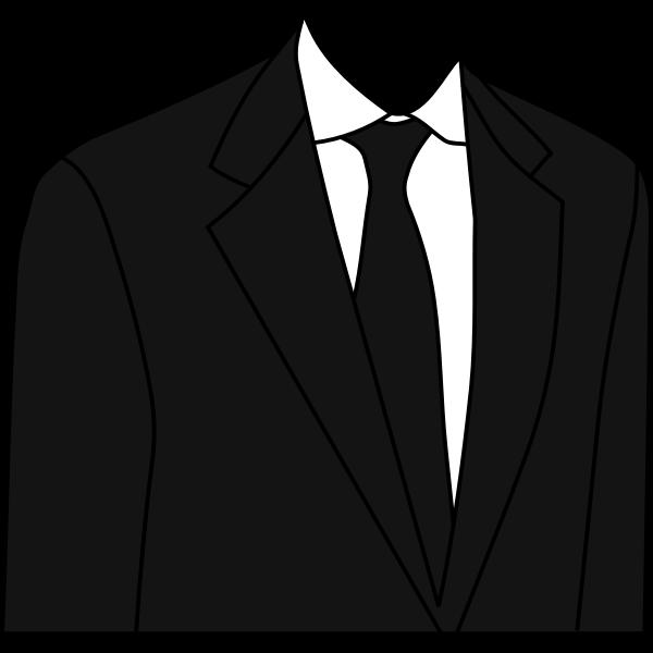 Black suit jacket vector illustration