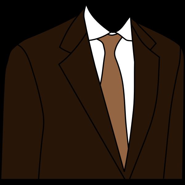 Brown suit jacket vector clip art