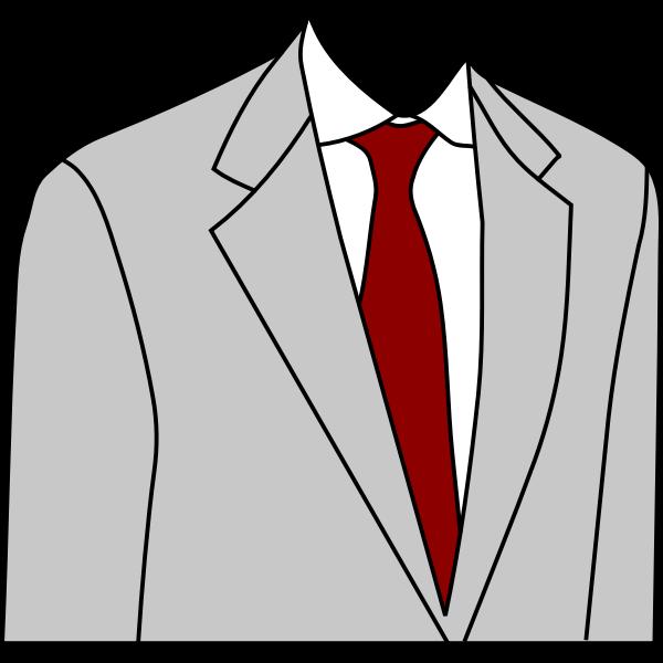 Light grey suit jacket vector image