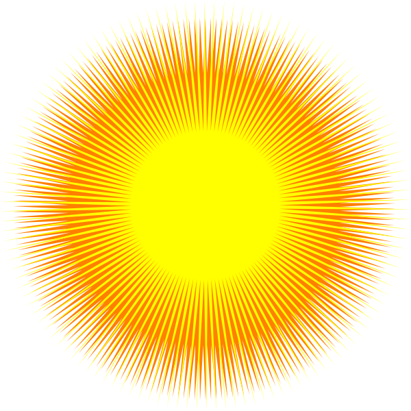 Glowing sun vector clip art