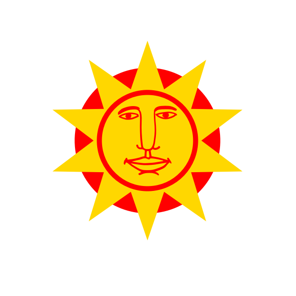 Vector graphics of big nosed sun