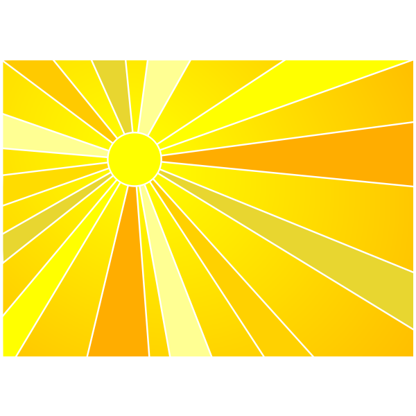 Sun vector clip art