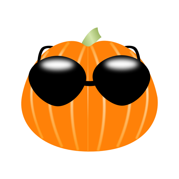 Pumpkin wearing sunglasses