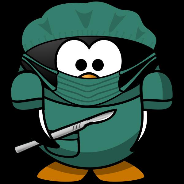 Tux ambulance medic vector image