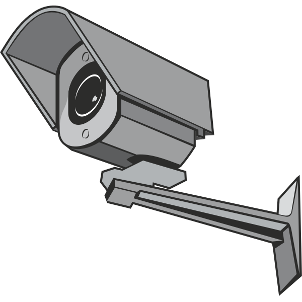 Vector clip art of outdoor CCTV camera