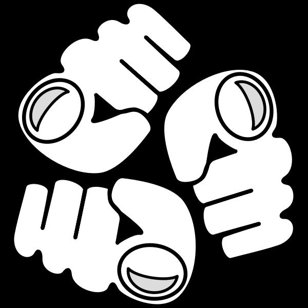 Passive aggression logo vector image