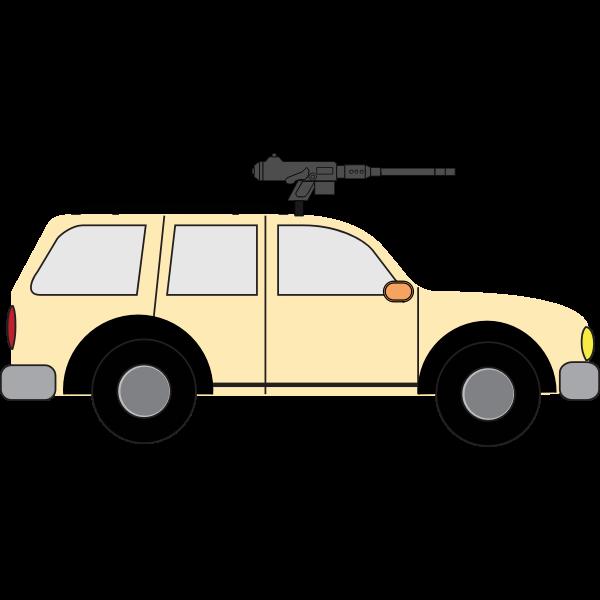 Improvised fighting vehicle vector image