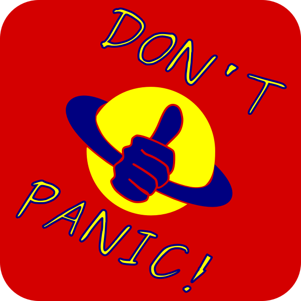 Don't panic sticker vector clip art