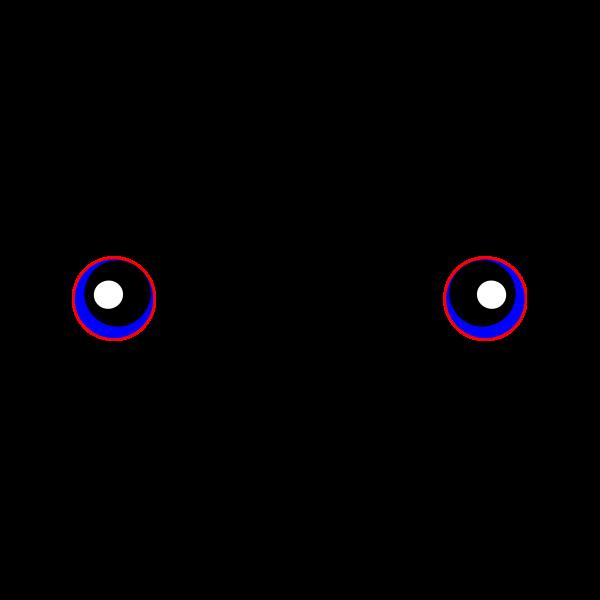 Vector illustration of of female blue eyes