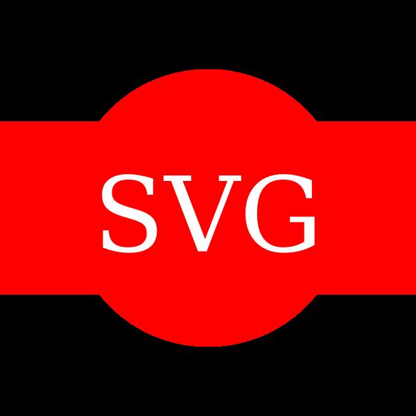 SVG symbol on red background