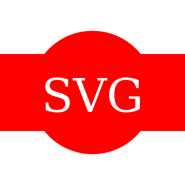 SVG symbol on red background