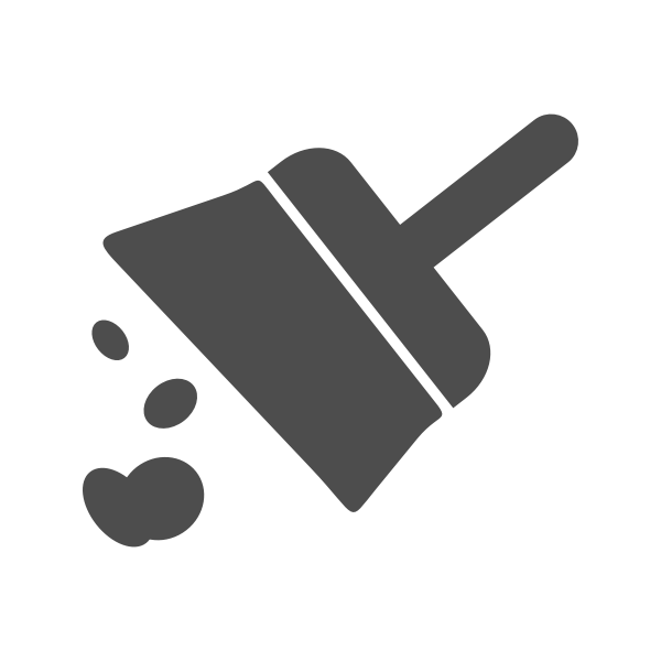 Sweep icon vector drawing