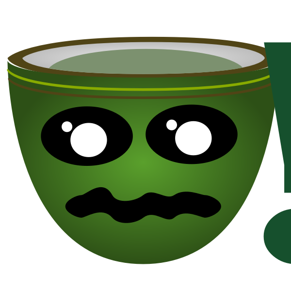 Vector clip art of green warning cup