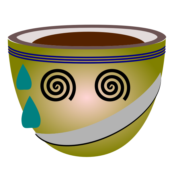 Vector graphics of sweating green mug