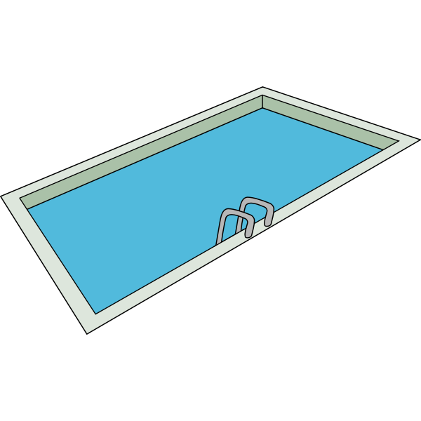 Swimming pool vector drawing