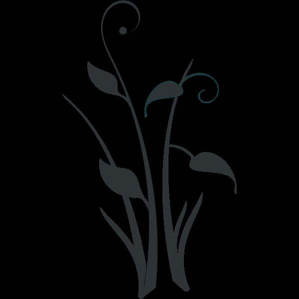 Pond flower silhouette vector clip art