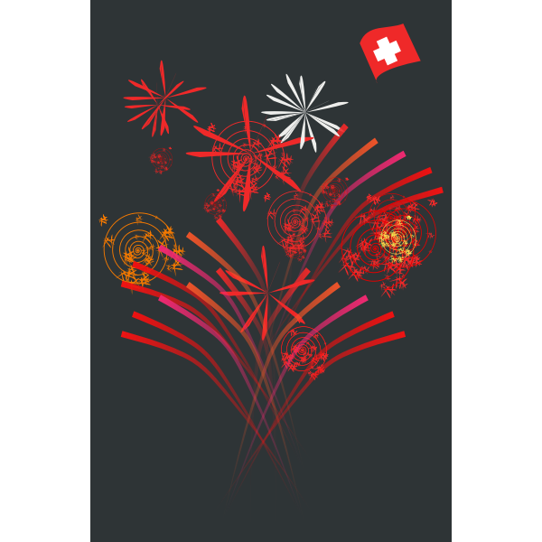 Vector postcard for Swiss National Day.