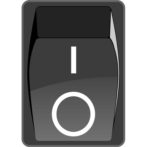 Switch off button vector image