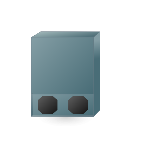 Wall mounted network rack vector clip art