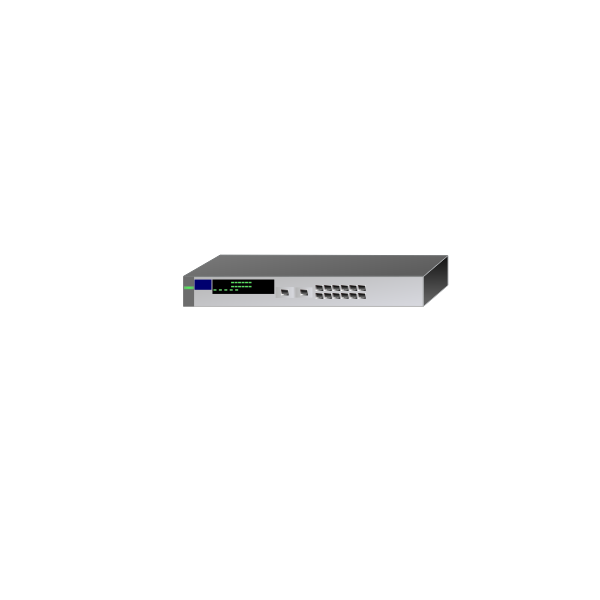 Vector drawing of HP networking device